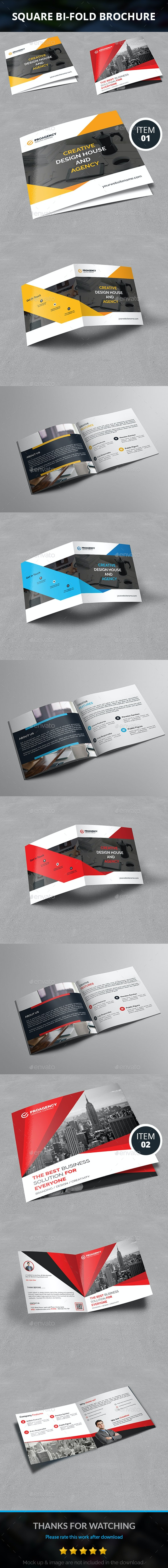 Square Bifold Brochure Bundle - Corporate Brochures