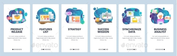 Mobile App Onboarding Screens Business Strategy - Concepts Business