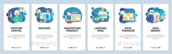 Mobile App Onboarding Screens Business Venture - Concepts Business