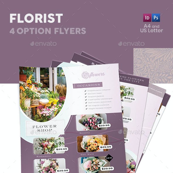 Florist Flyers 5 – 4 Options