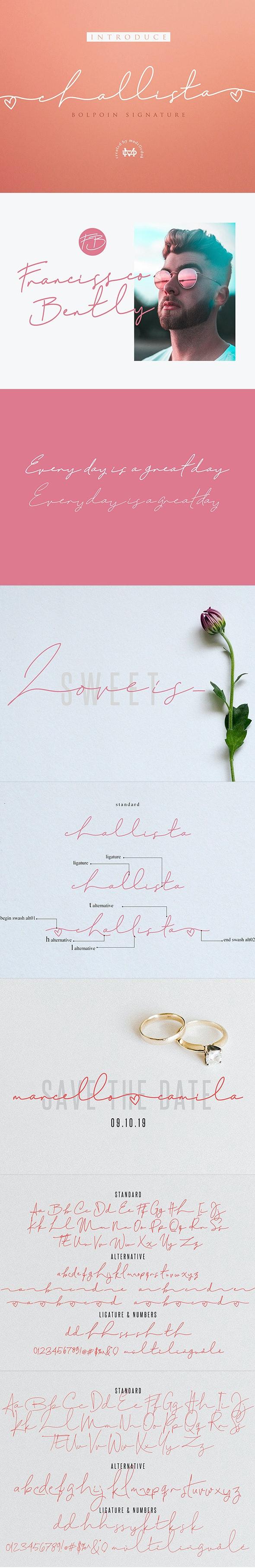 Challista Signature - 30%OFF - Script Fonts