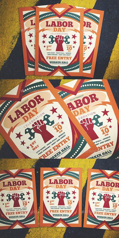 Labor Day Celebration Flyer - Flyers Print Templates