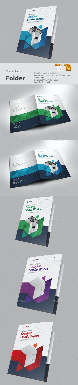 Presentation Folder - Print Templates