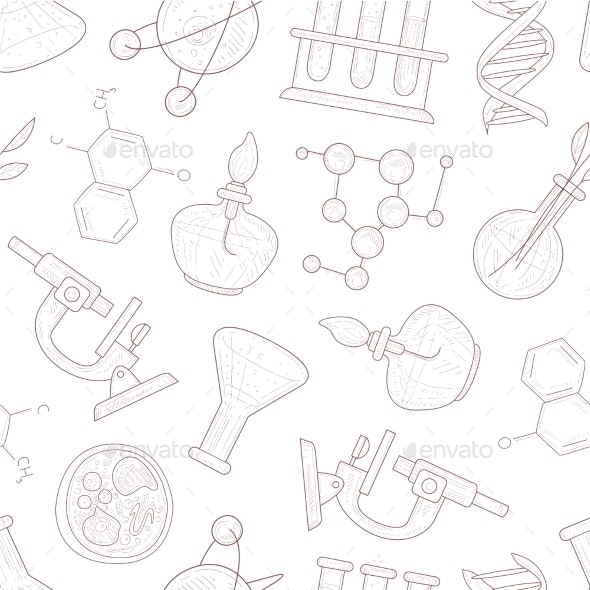 Science Seamless Pattern - Backgrounds Decorative