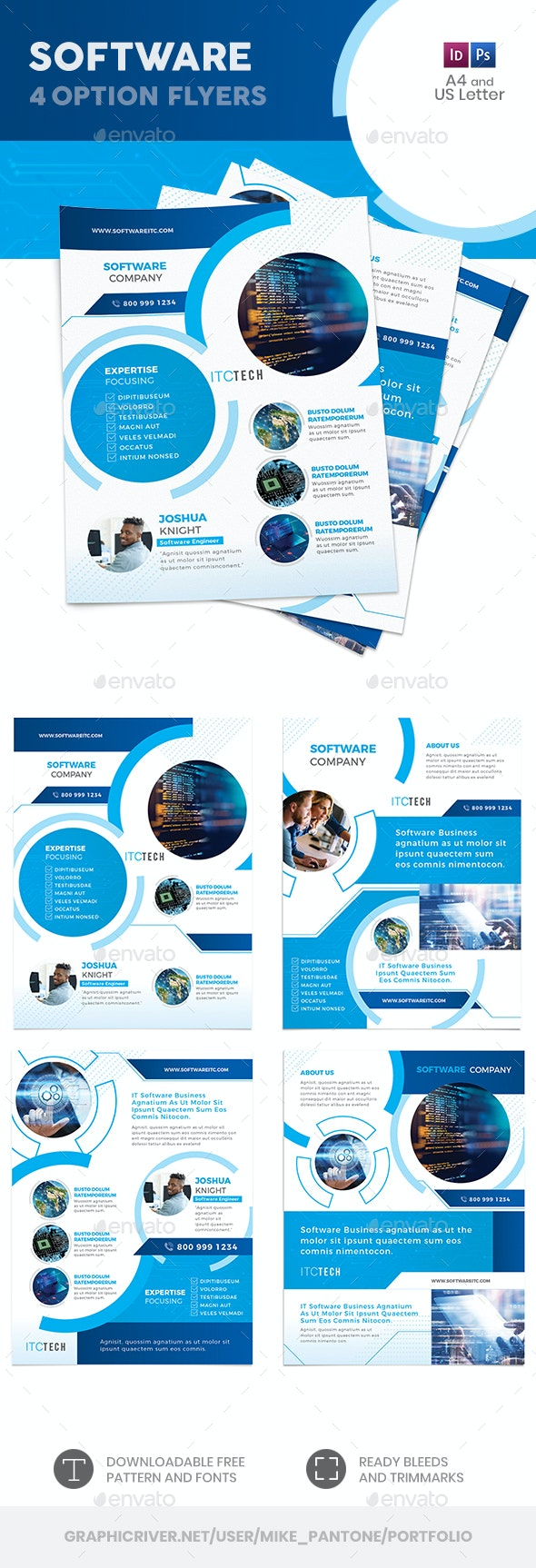 Software Flyers 10 – 4 Options - Corporate Flyers