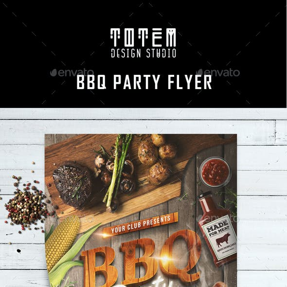 BBQ Party Flyer