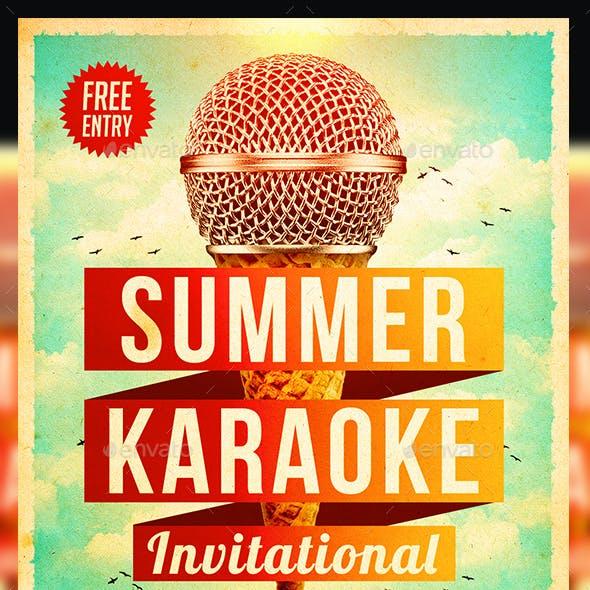 Summer Karaoke Flyer