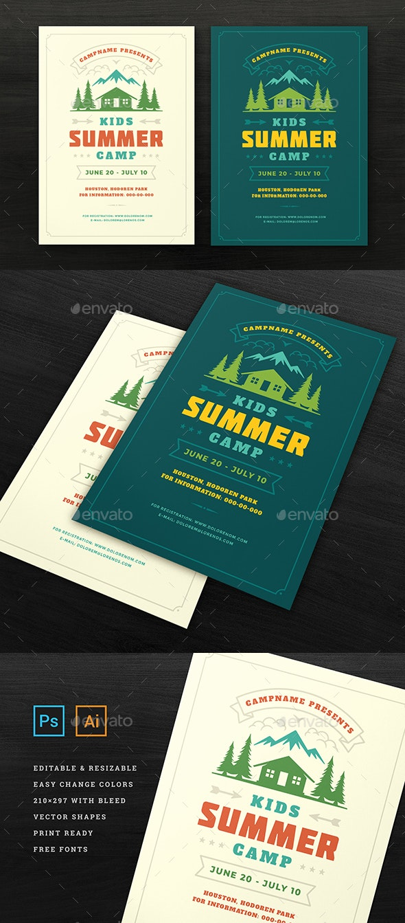Kids Summer Camp Flyer Template - Events Flyers