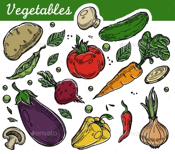 Vegetables Organic Farm Food Vegetarian Nutrition - Food Objects