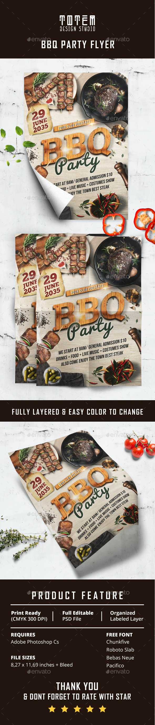 BBQ Party Flyer - Print Templates