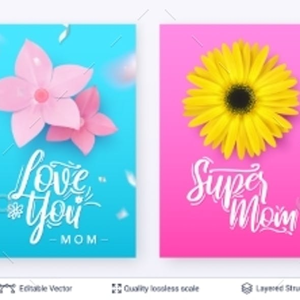 Set of Banner Templates for Mother's Day