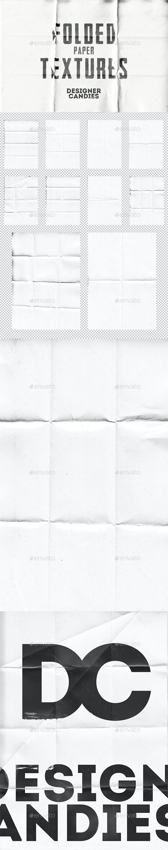 Folded Paper Textures - Paper Textures