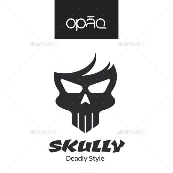 Skull Hairstyle Fashion Logo