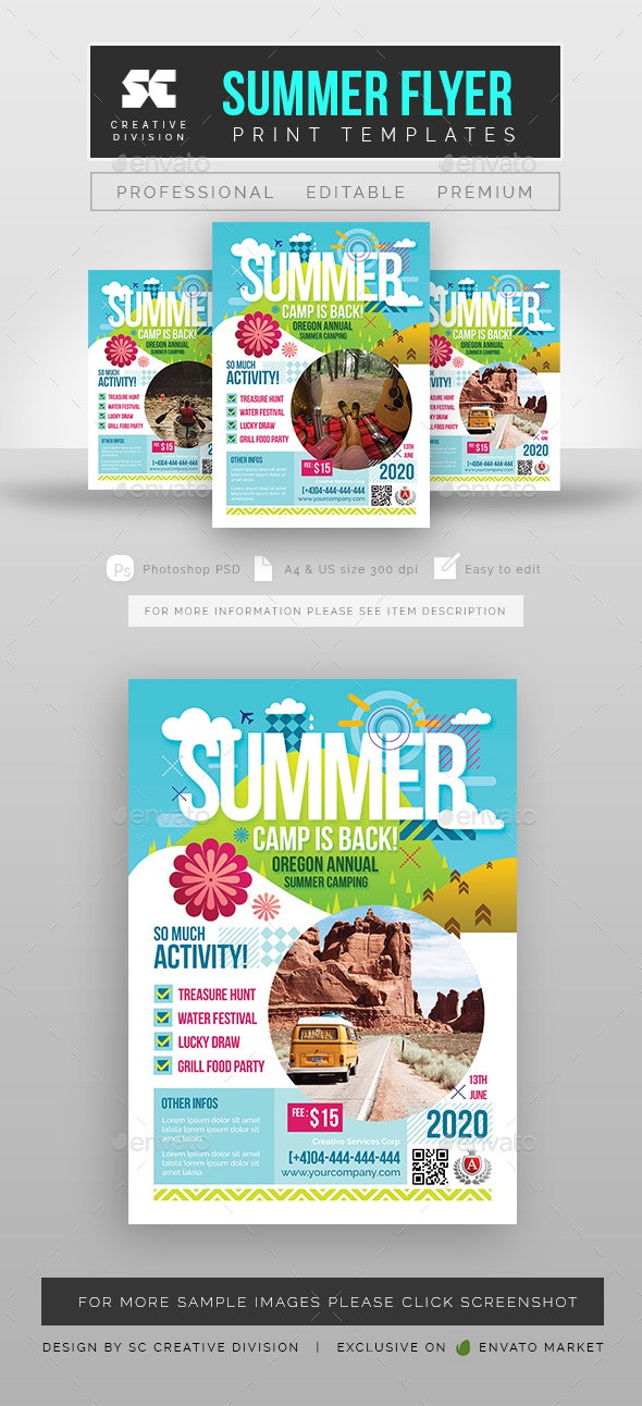 Summer Camp Flyer - Holidays Events