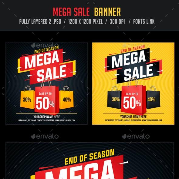 Mega Sale / Big Sale Banner