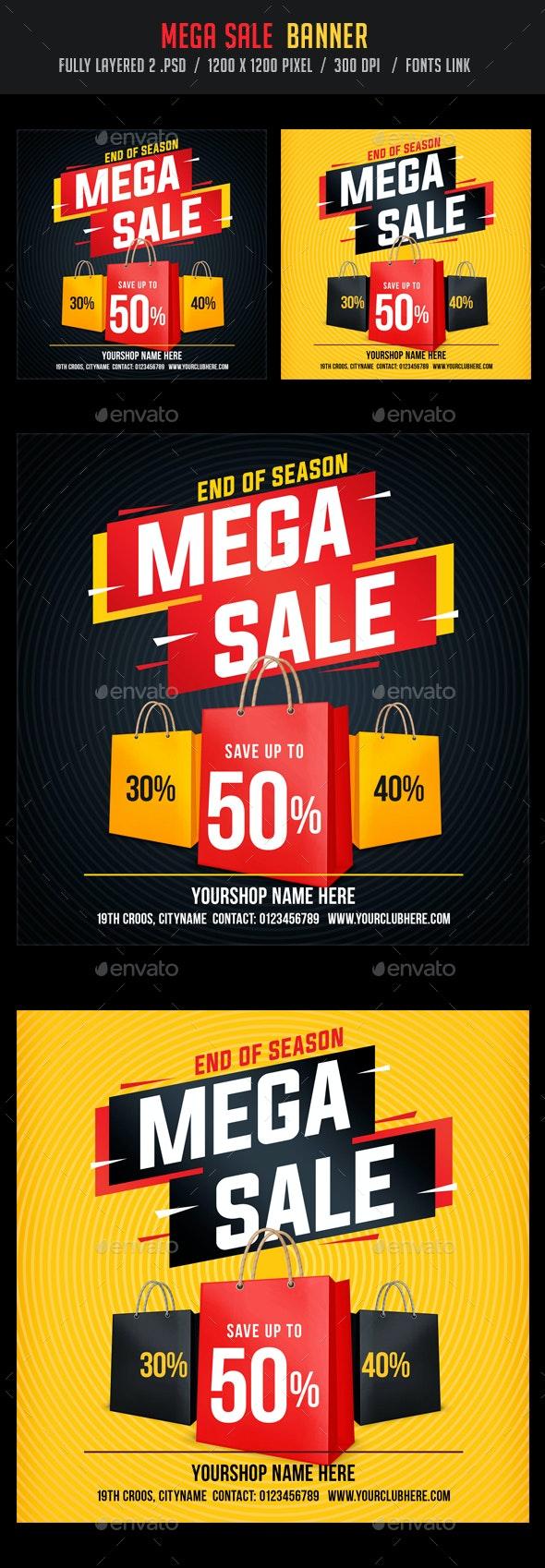 Mega Sale / Big Sale Banner - Banners & Ads Web Elements