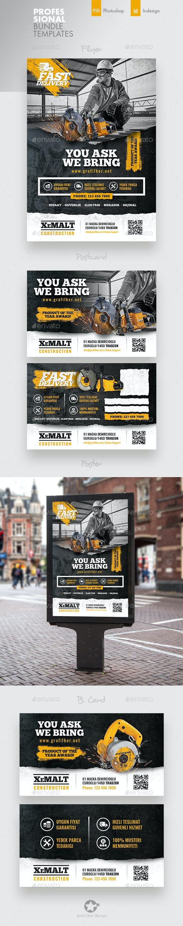 Construction Bundle Templates - Corporate Flyers