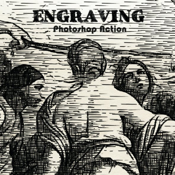 Engraving Photoshop Action