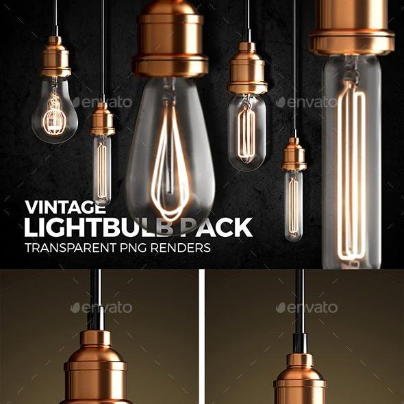 Vintage Lightbulb Renders Pack