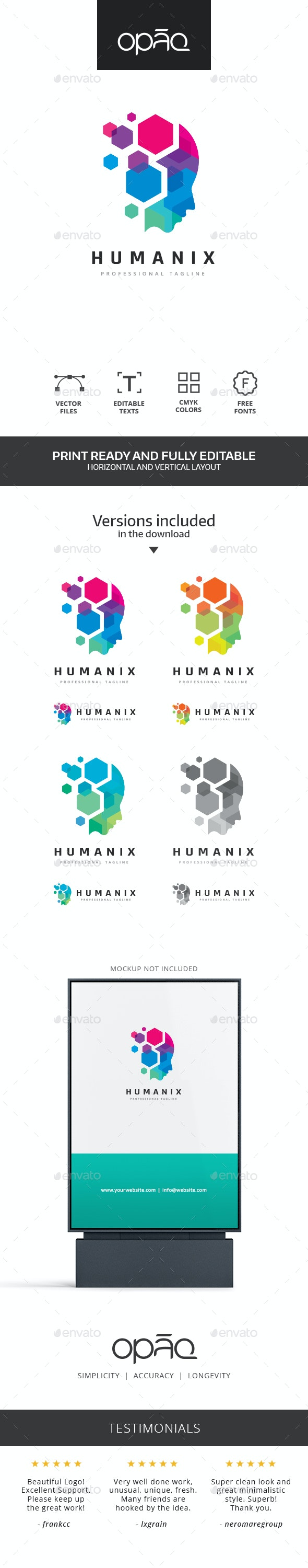Human Virtual Data Logo - Humans Logo Templates