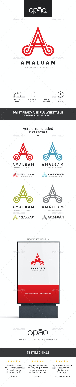 Stylized A Letter Logo - Letters Logo Templates