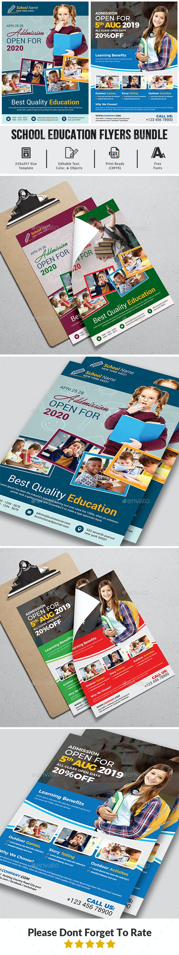 School Education Flyers Bundle Templates - Corporate Flyers