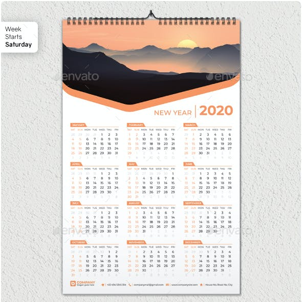 One Page Calendar Graphics, Designs & Templates