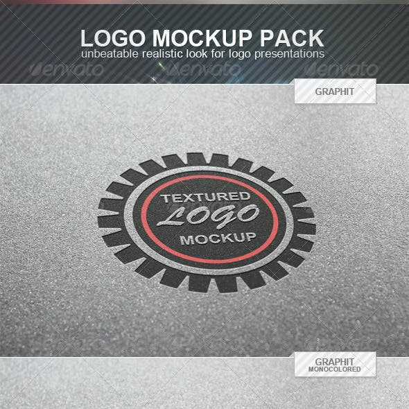 Textured Logo Mockup Pack