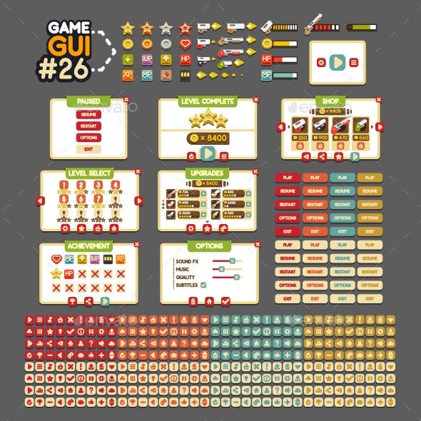 Game GUI #26 - User Interfaces Game Assets