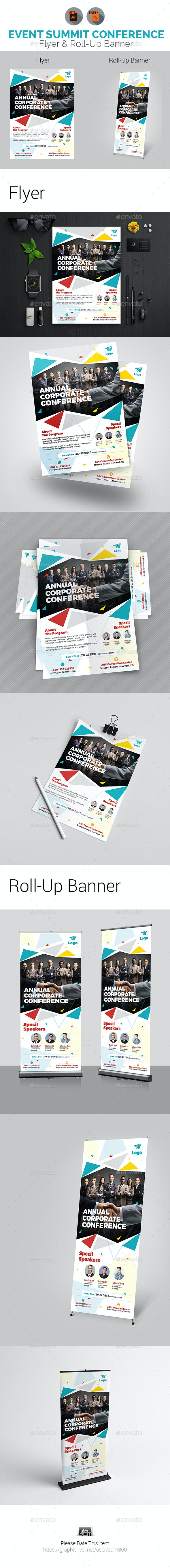 Conference Flyer with Rollup Bundle - Events Flyers
