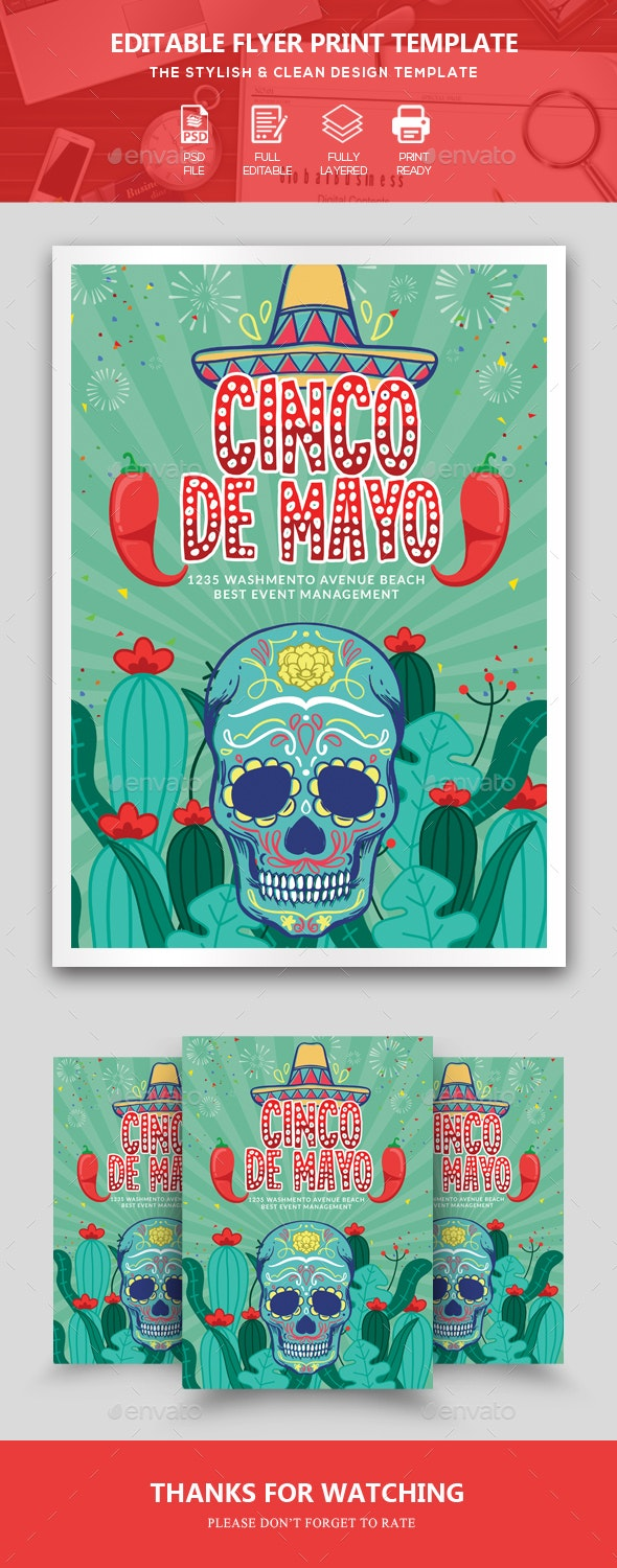 Cinco De Mayo Event Flyer - Events Flyers