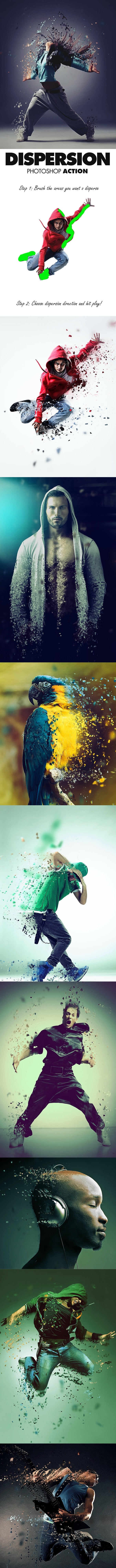 Dispersion Photoshop Action - Photo Effects Actions