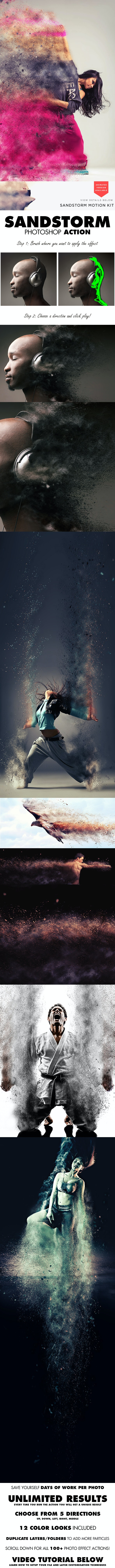 SandStorm Photoshop Action - Photo Effects Actions