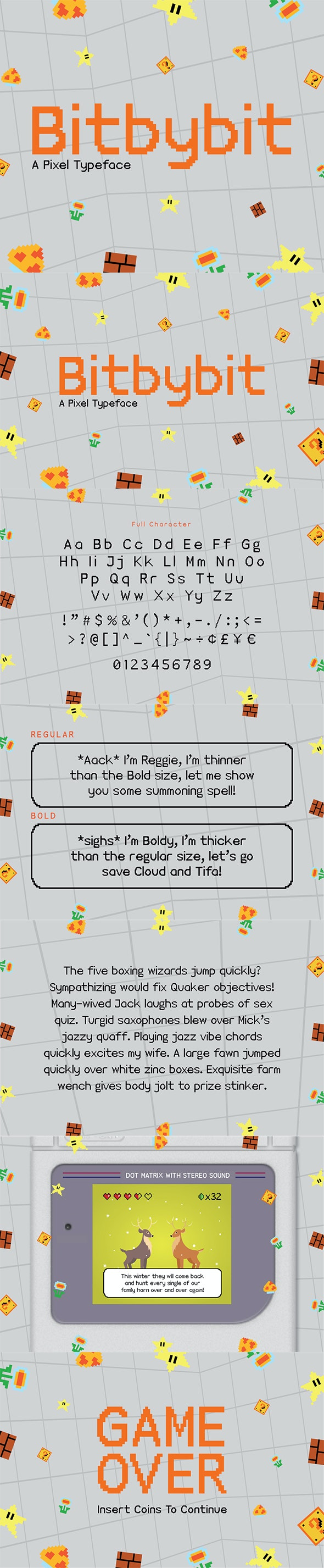 Bitbybit Font - Sans-Serif Fonts