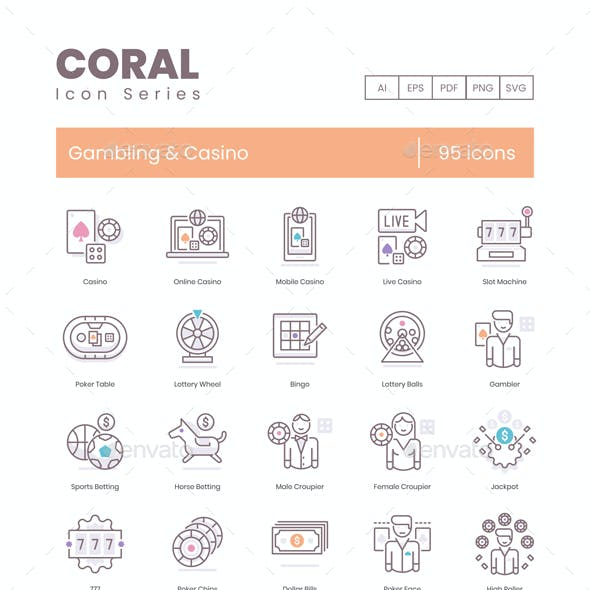Casino Icons - Coral Series