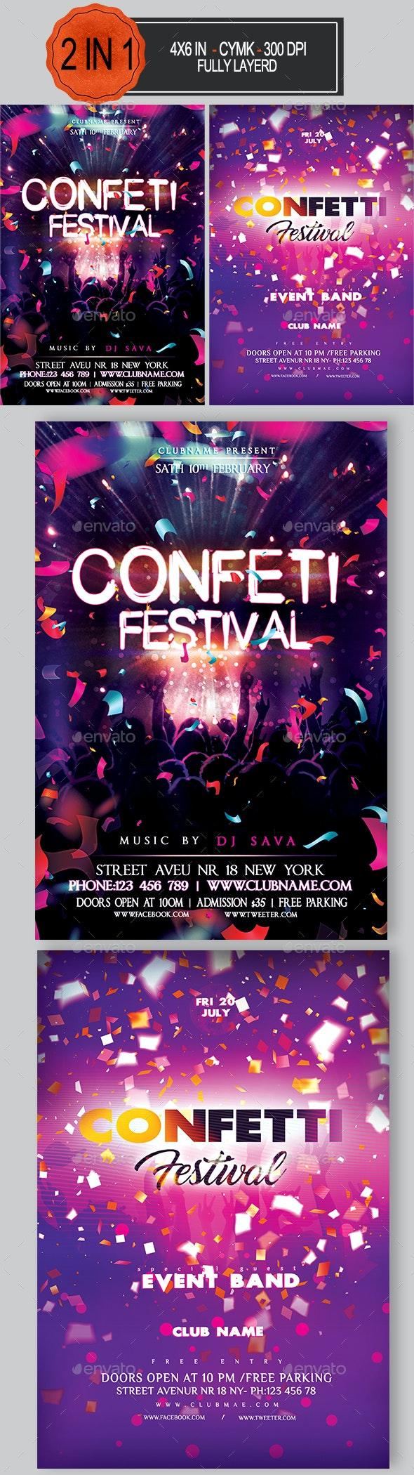 Confetti Flyer Bundle - Clubs & Parties Events