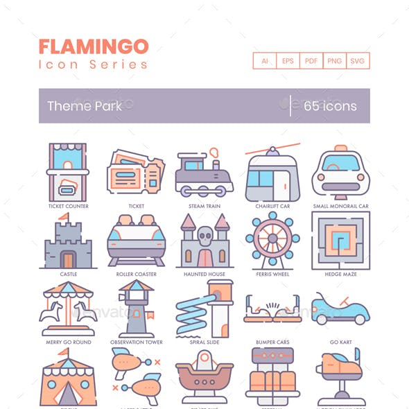 Theme Park Icons - Flamingo Series