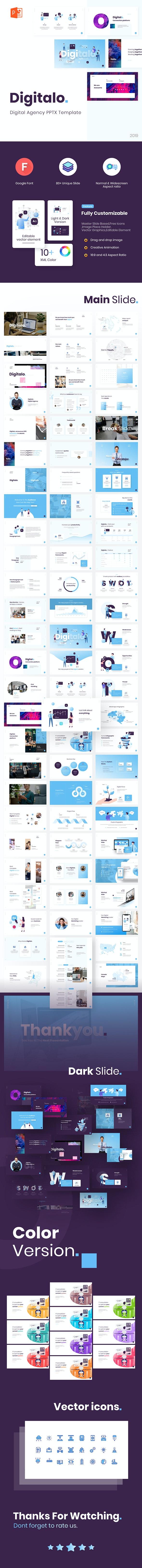 Digitalo Digital Agency PowerPoint Template