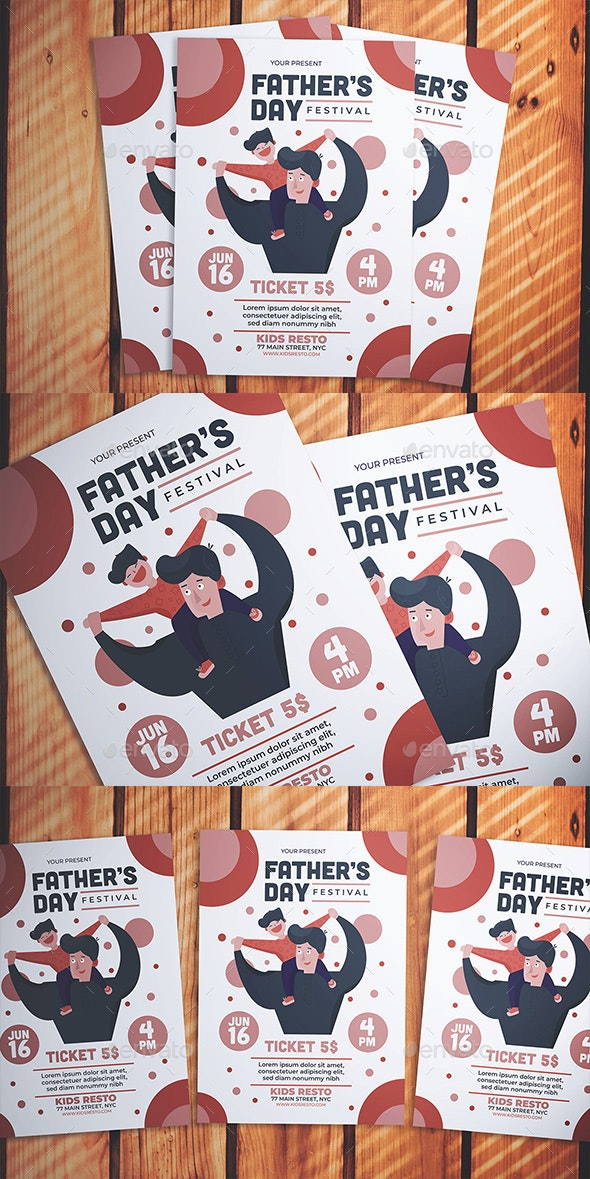 Father's Day Event Flyer - Flyers Print Templates