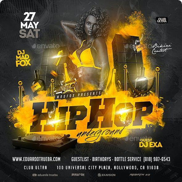 Hip Hop Underground Party Flyer