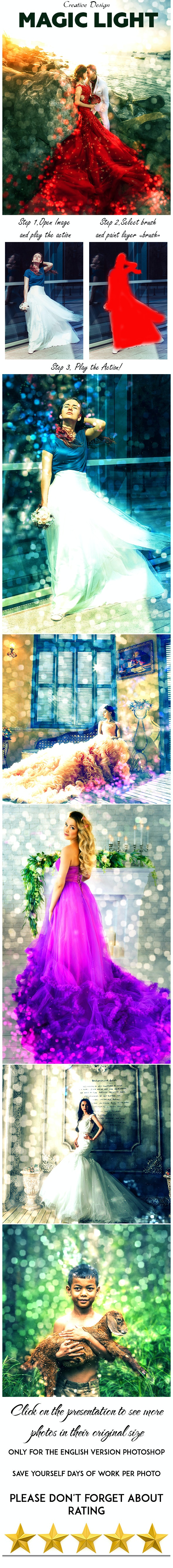 Magic Light Photoshop Action - Photo Effects Actions