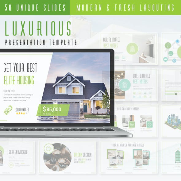 Luxurious - Real Estate Agency PowerPoint Presentation Template