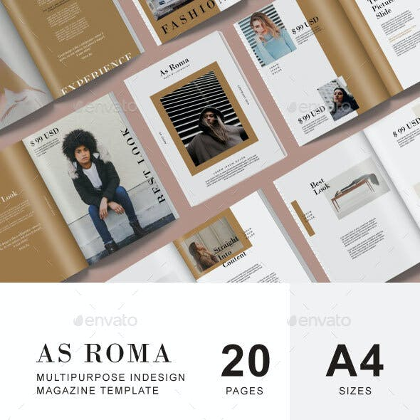 As Roma Lookbook & Catalog Template