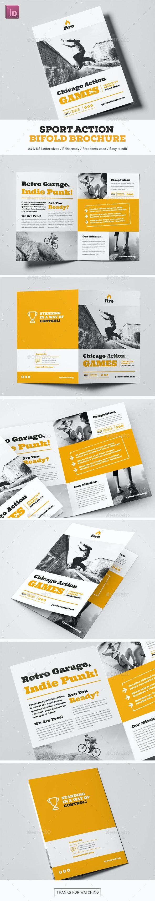 Sport Action Bifold Brochure - Brochures Print Templates