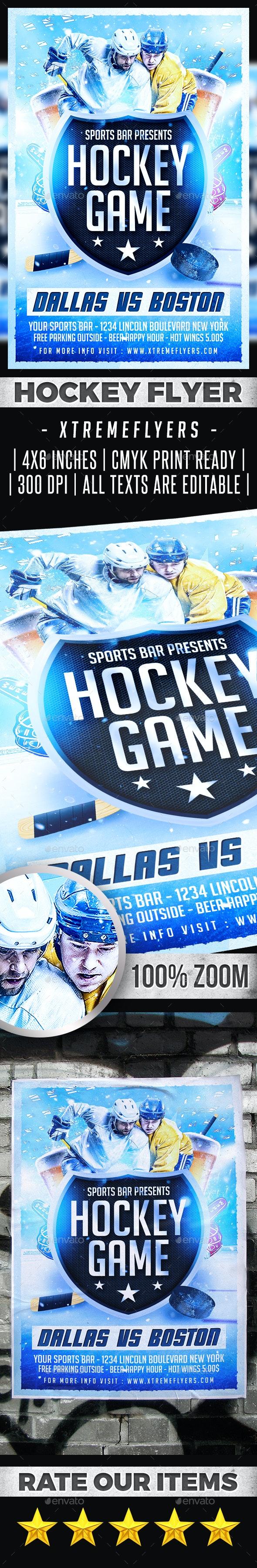 Hockey Flyer - Sports Events