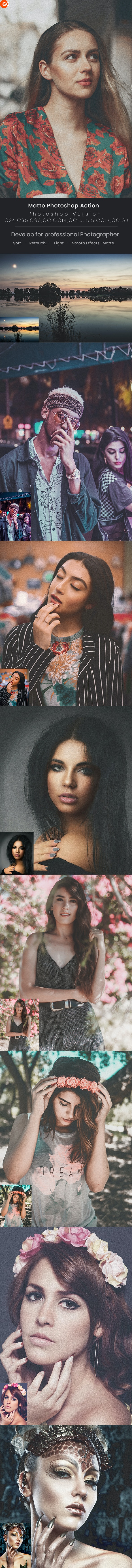 Matte Photoshop Action - Photo Effects Actions