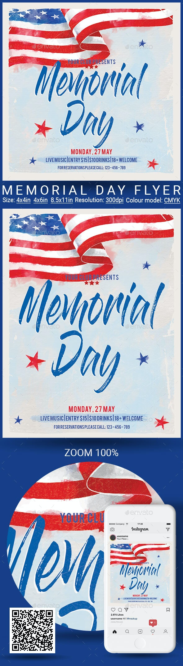 Memorial Day - Events Flyers