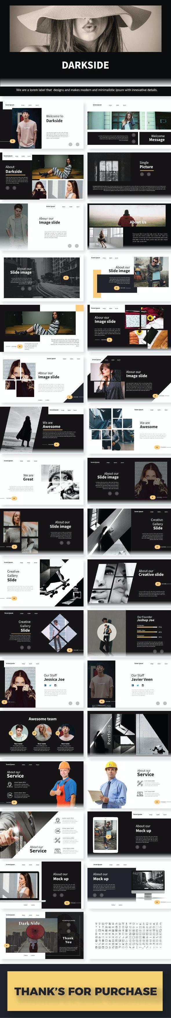 DarkSide Presentation Template - Creative PowerPoint Templates