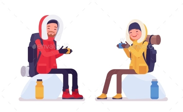 Winter Hiking People - Sports/Activity Conceptual