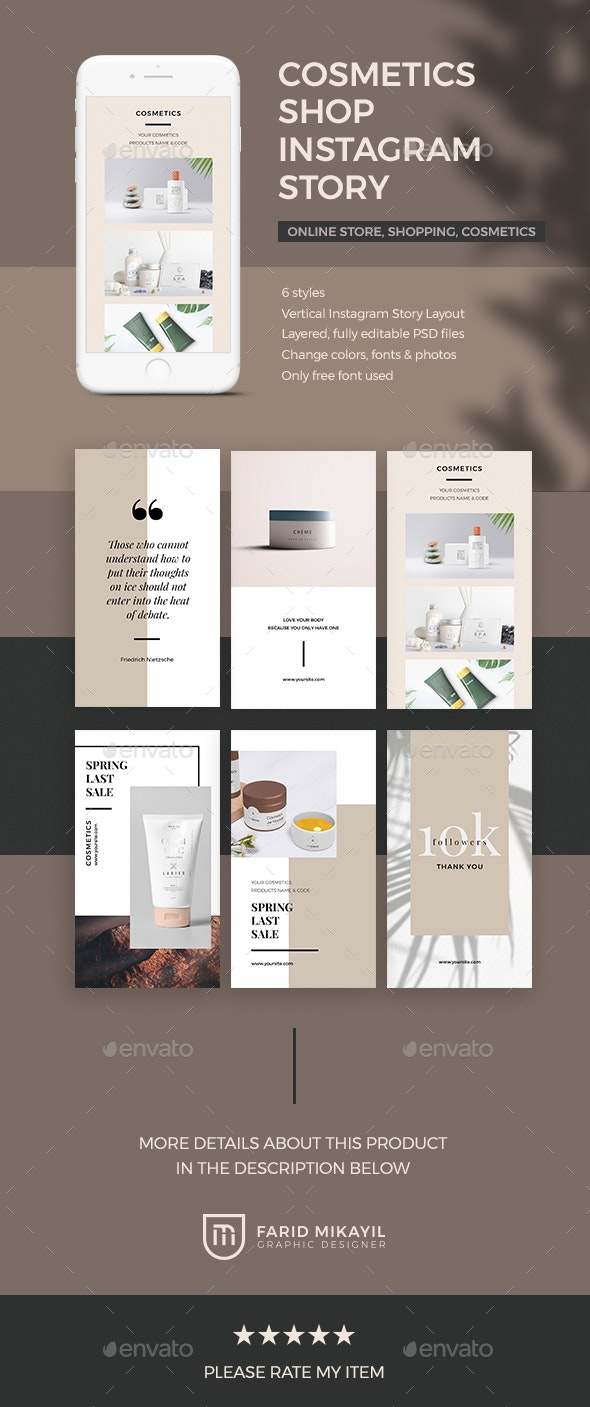 Cosmetics Shop Instagram Story - Social Media Web Elements